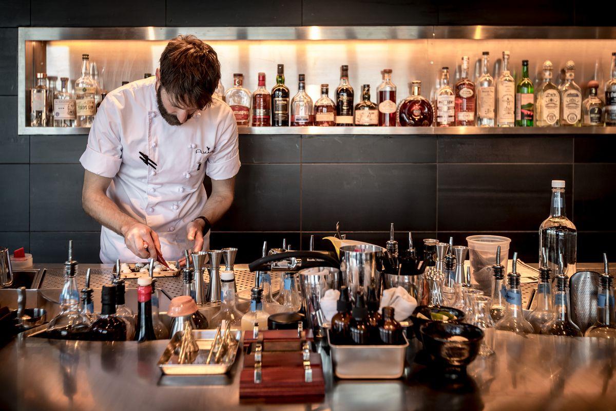 The Aviary's bar-slash-kitchen