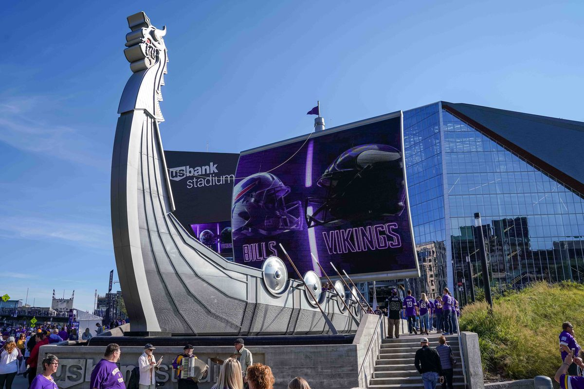 Exterior: The Turf At U.S. Bank Stadium Is Being Replaced