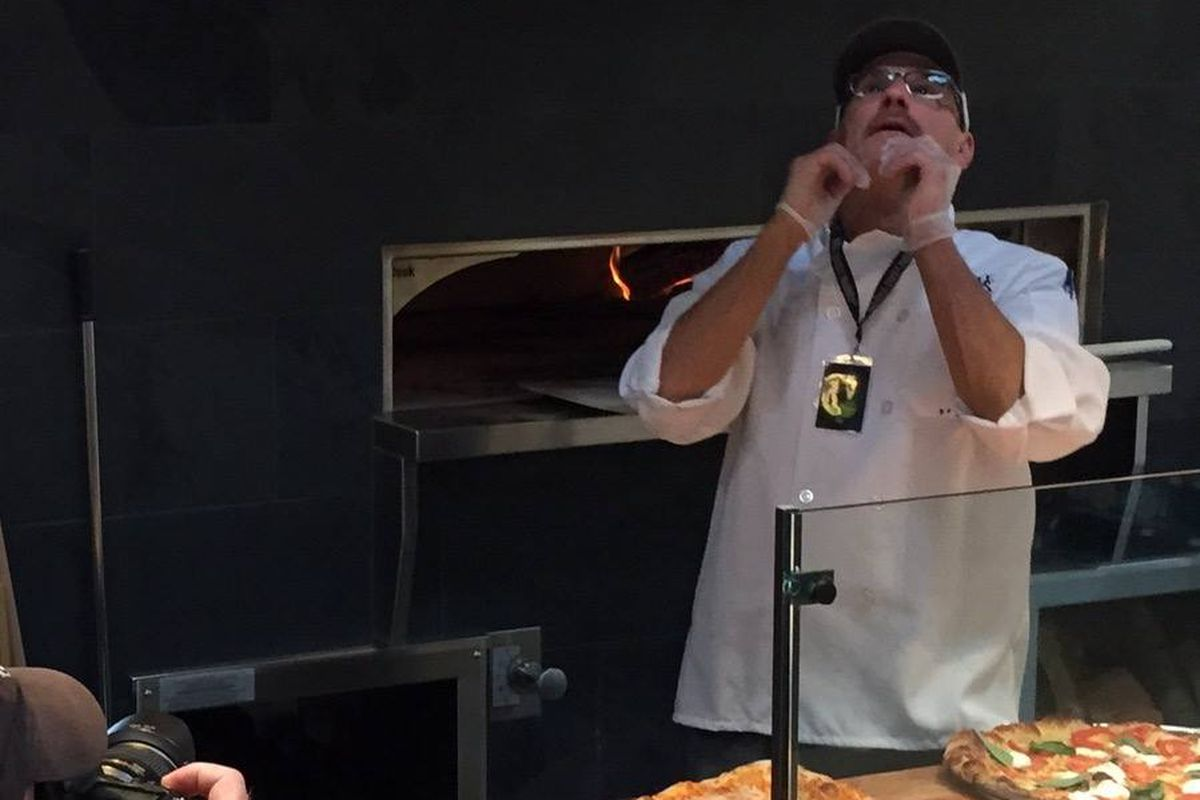 Pizza tossing at the new Chambers Bay Whole Foods