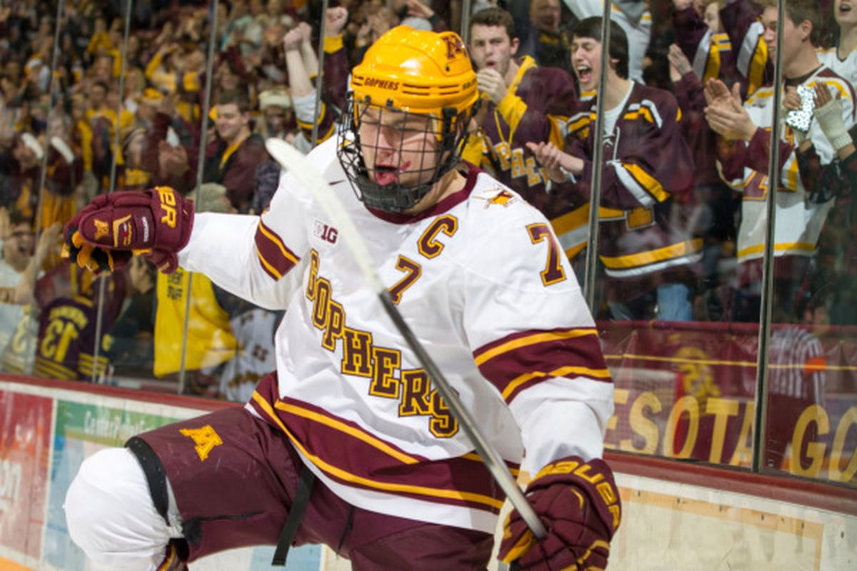 Kyle Rau had a great Friday night with a hat trick for the Gophers!