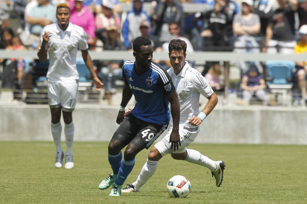 Simon Dawkins earned the penalty that led to the Quakes goal