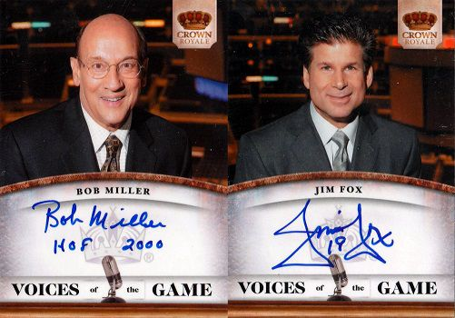 2010-11 Crown Royale Voices of the Game Bob & Jim