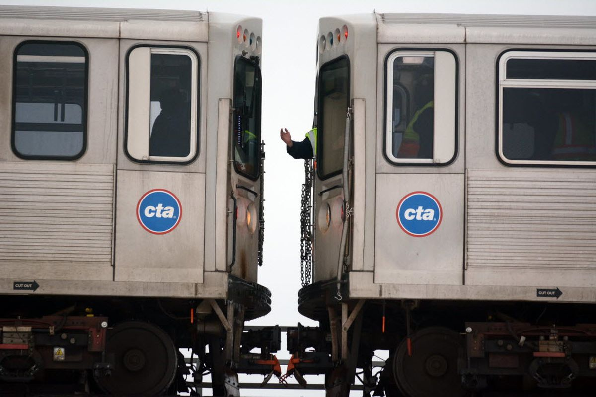 """CTA Red Line subway service was rerouted to elevated tracks Aug. 27, 2019, because of an """"unauthorized person on the tracks."""""""
