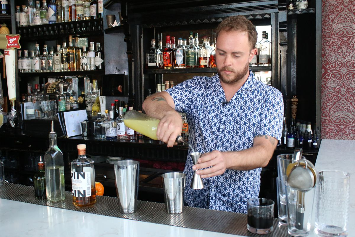 The staff at Scofflaw is confidant they can find a gin to suit every taste whether you're a whiskey, rum or mezcal lover, says bar manager Luke DeYoung.