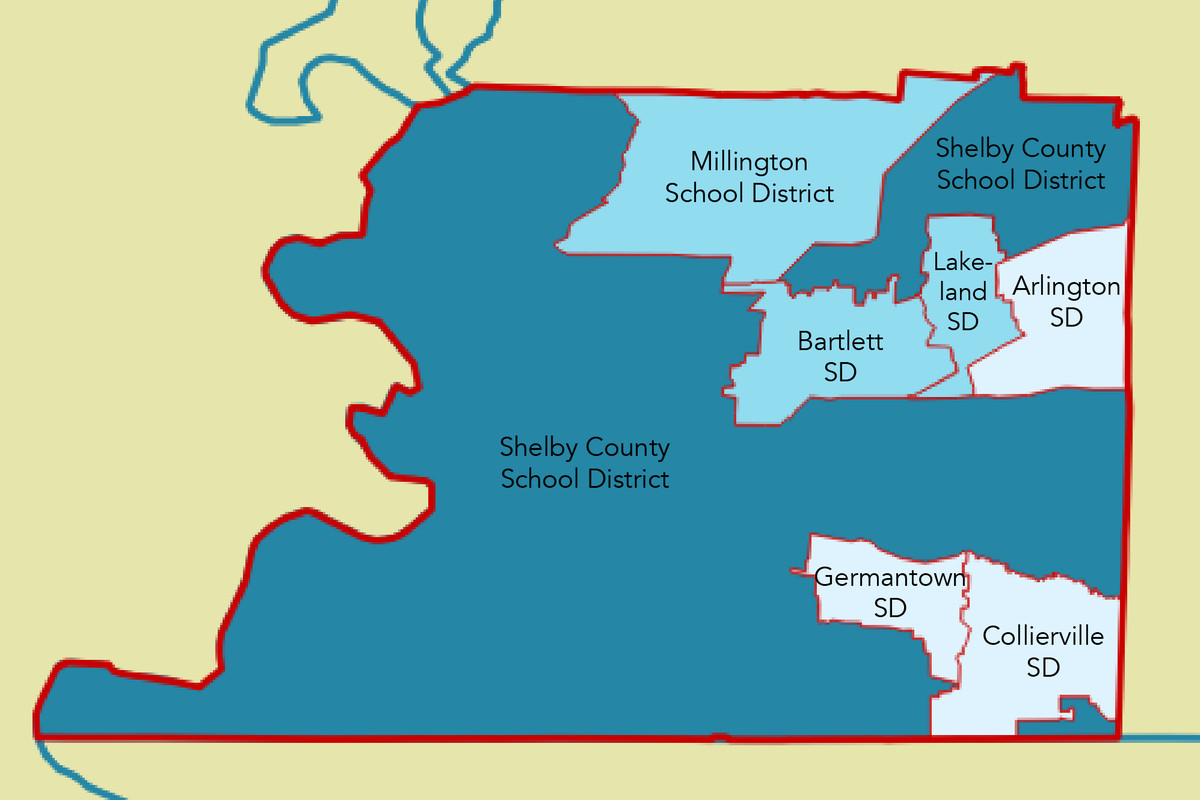 Six municipal school districts were created near Memphis in 2014 after splitting off from newly consolidated Shelby County Schools.