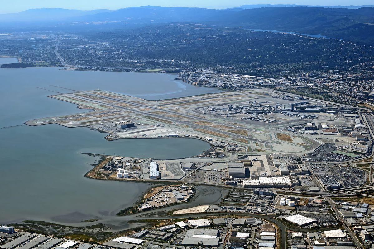 Aerial photo of San Francisco International Airport