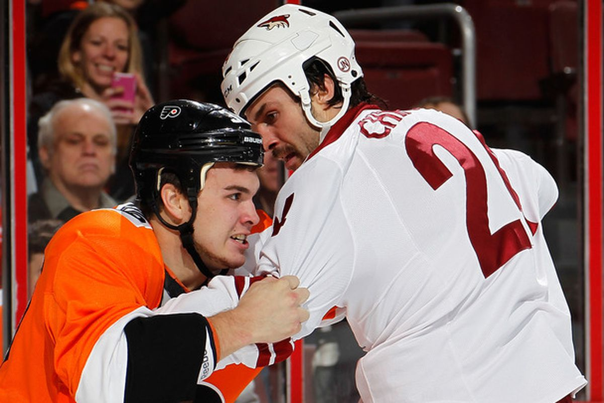 Nothing says Flyer hockey quite like a fight.
