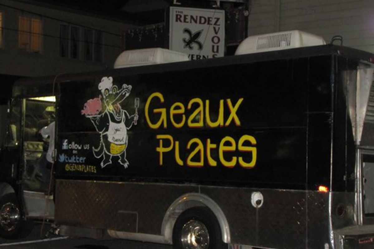 The Geaux Plates food truck.