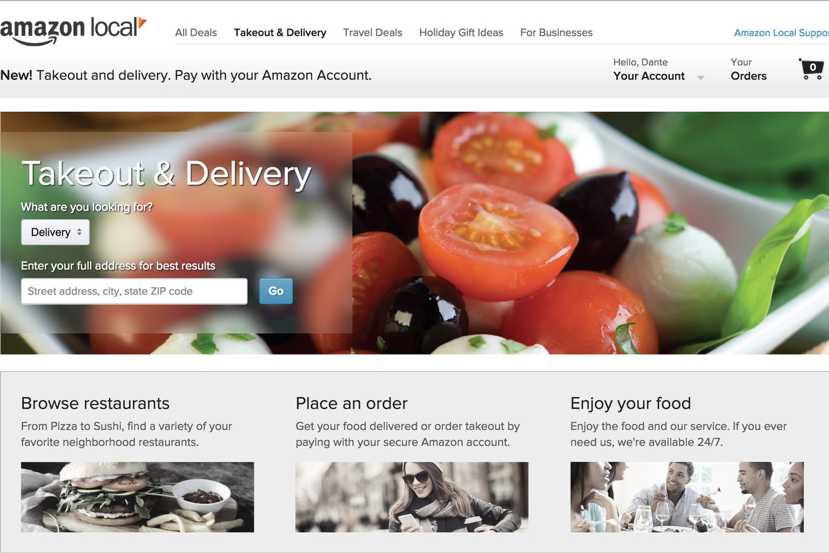 Amazon Just Entered The Food Delivery Game The Verge