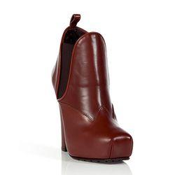 Bordeaux Platform Ankle Boots, $389
