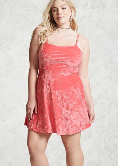 Forever 21 Plus Size Crushed Velvet Dress, $14.90
