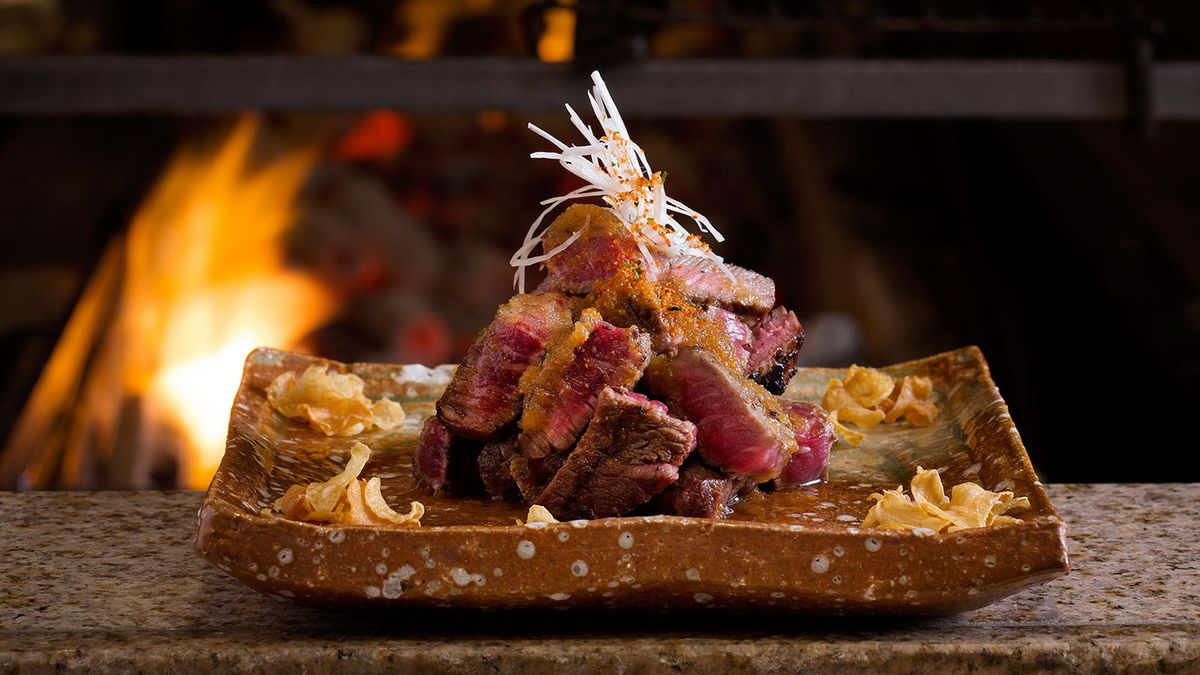 Rib-eye steak at Zuma