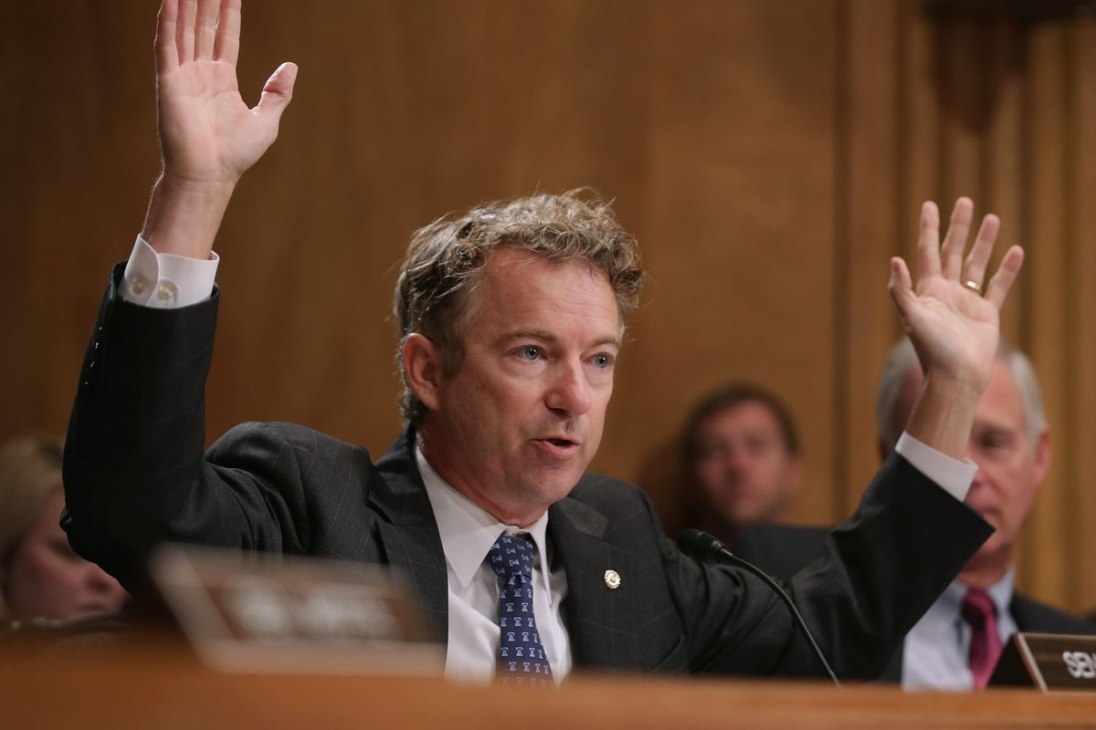 """Yes, that is Rand Paul doing """"hands up, don't shoot."""""""