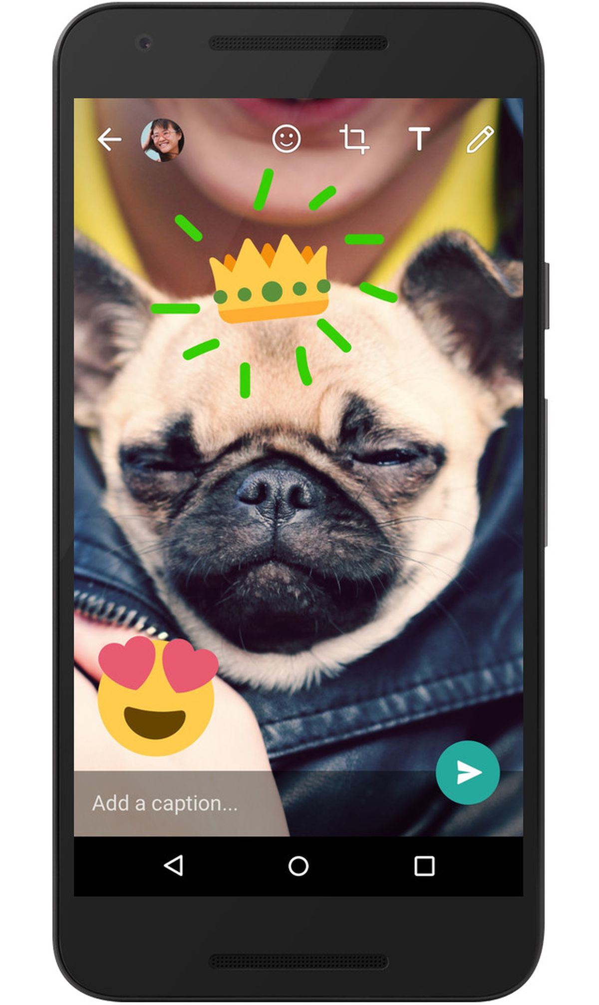 WhatsApp just added a bunch of Snapchat-style camera features