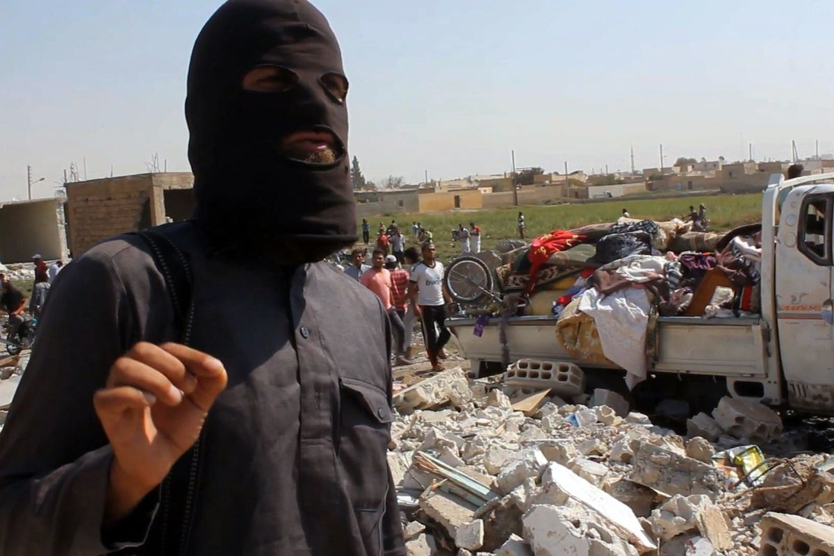 An ISIS militant in Syria