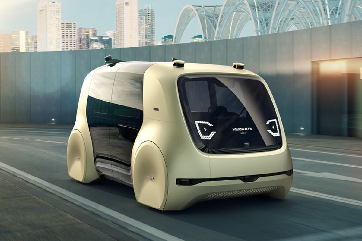 volkswagen unveils 39 sedric 39 driverless car concept curbed. Black Bedroom Furniture Sets. Home Design Ideas