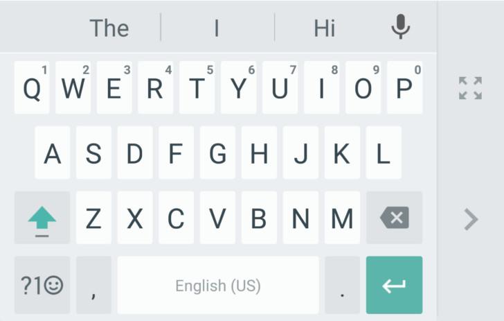 Google Keyboard one-handed