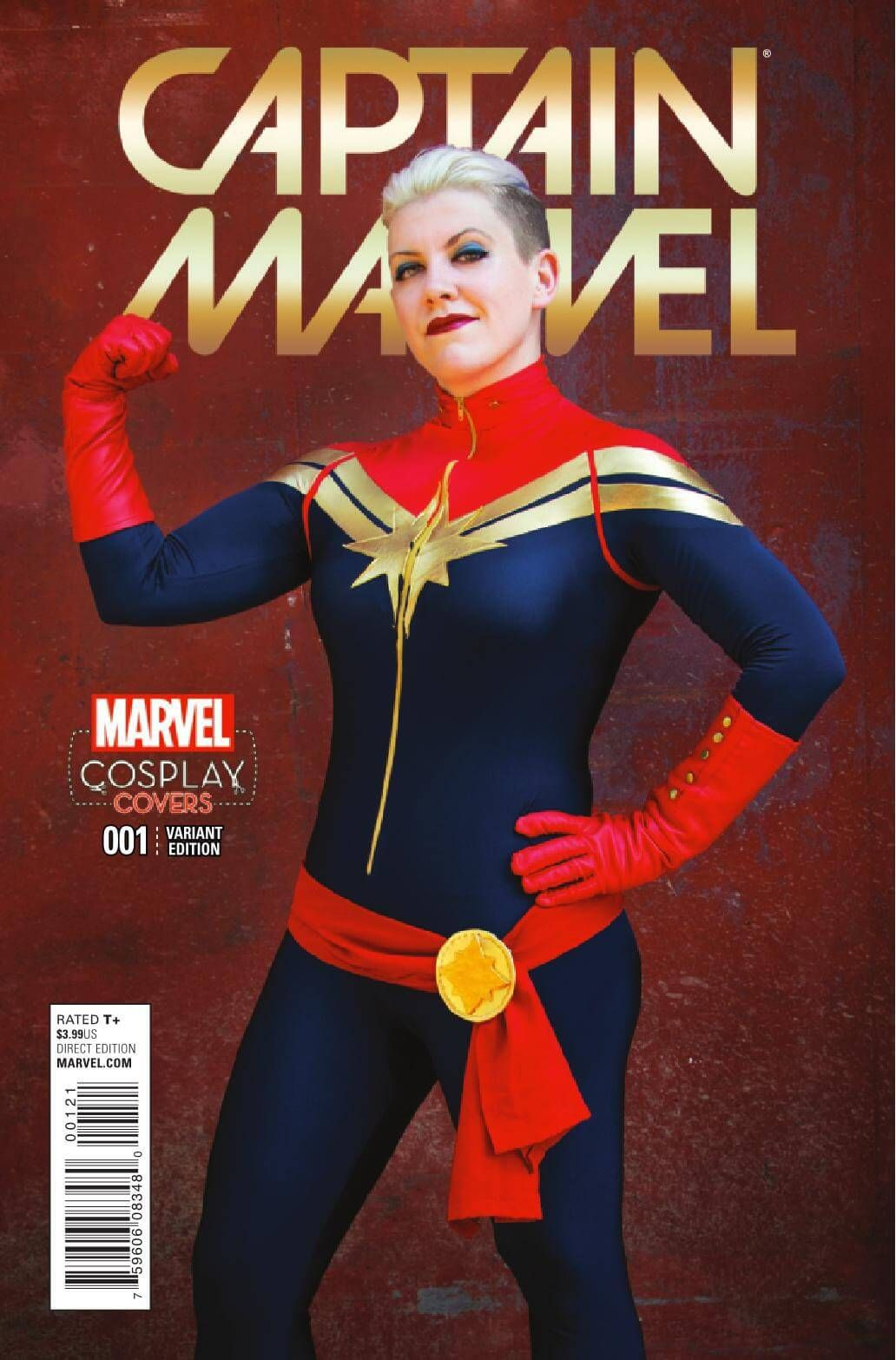 Cosplay variant cover of Captain Marvel #1, Marvel Comics (2016).