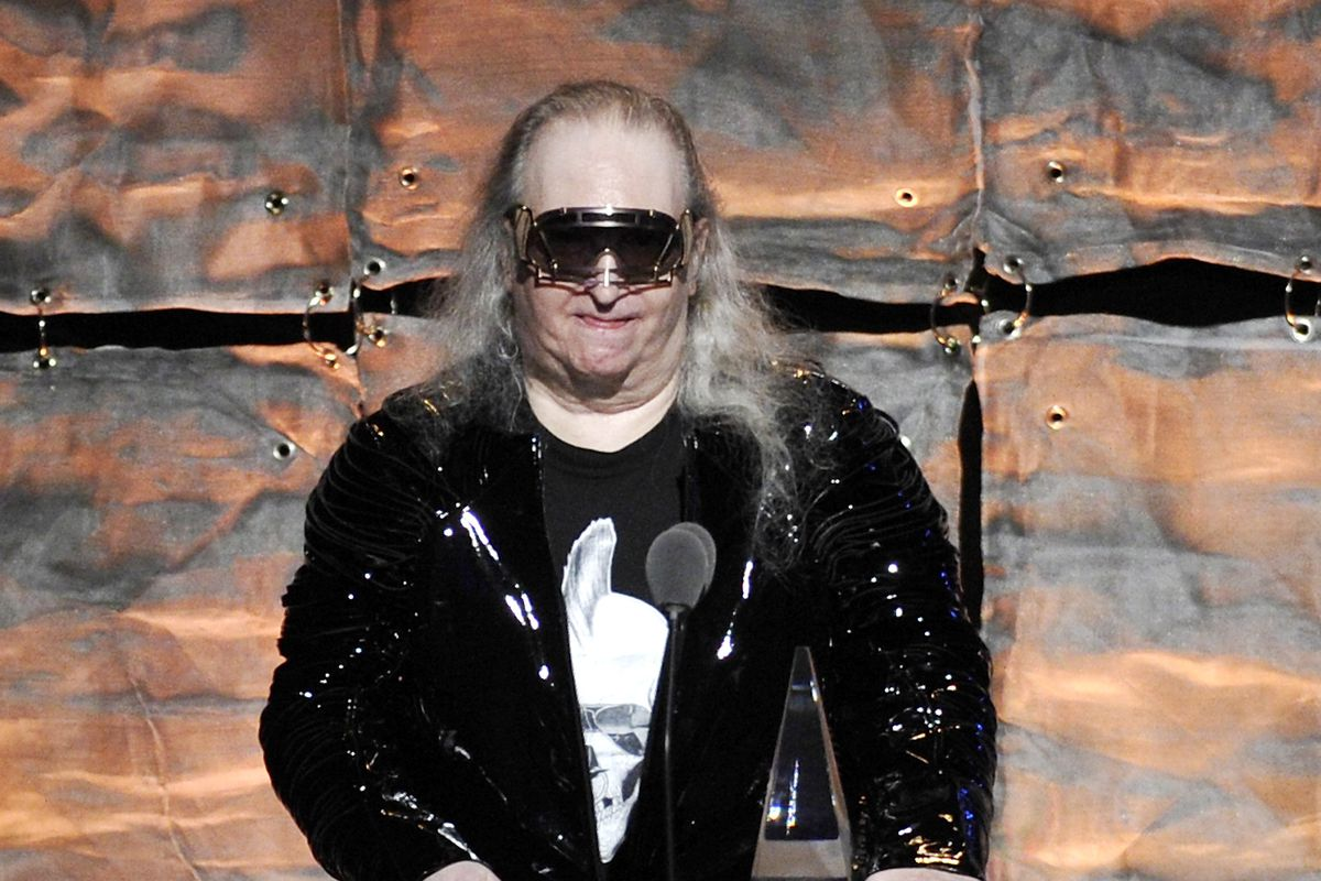 Inductee Jim Steinman speaks at the 2012 Songwriters Hall of Fame induction and awards gala in New York on June 14, 2012.
