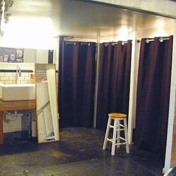 Dressing rooms! Not pictured, but nearby: Bathrooms!