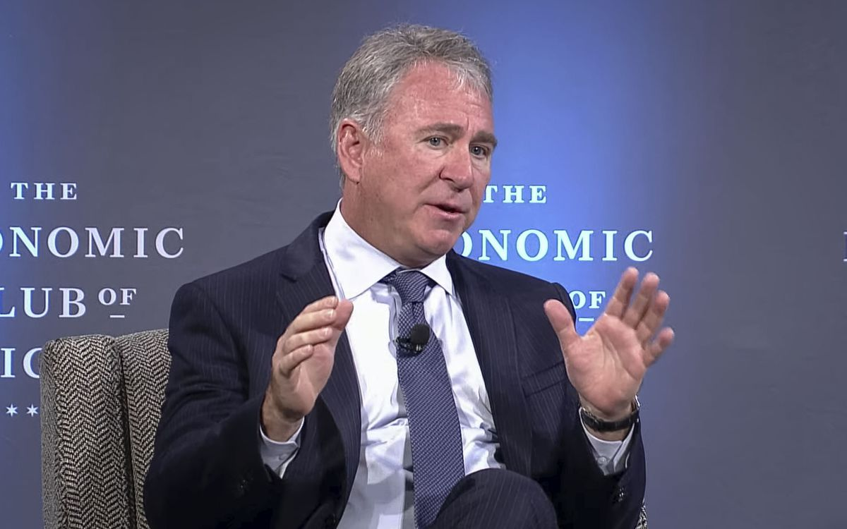 Ken Griffin, founder & CEO of Citadel, spoke to the Economic Club of Chicago on Monday.