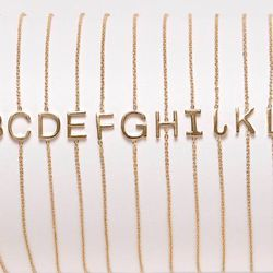 """<b>Maya Brenner</b> mini letter bracelet, $185 at <a href=""""http://www.mayabrenner.com/products/mini-letter-bracelet"""">Maya Brenner</a>. You can also shop the collection at Beckley's West 3rd St boutique on Mother's Day, where they'll be hosting a trunk sho"""