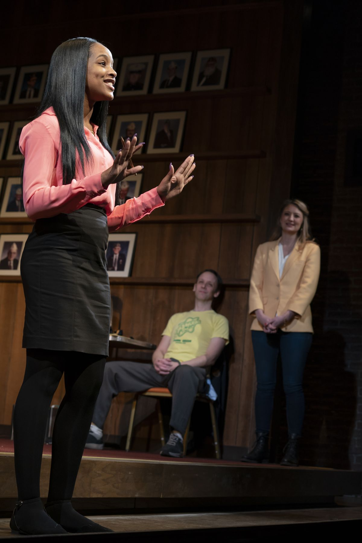 Thursday Williams debating as Mike Iveson and Heidi Schreck look on.