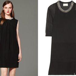 "Jewel-neck LBD. Right: Embellished dress, <a href=""http://www.net-a-porter.com/product/364228"">$595</a> at Net-a-Porter"