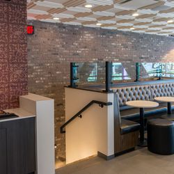 Taco Bell Cantina's upstairs dining room