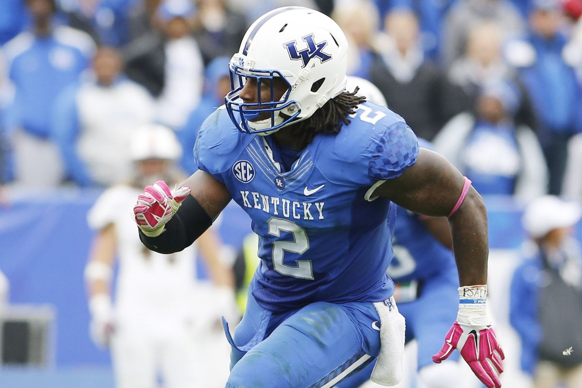 Kentucky Wildcats defensive end Alvin Dupree was a team captain in college.