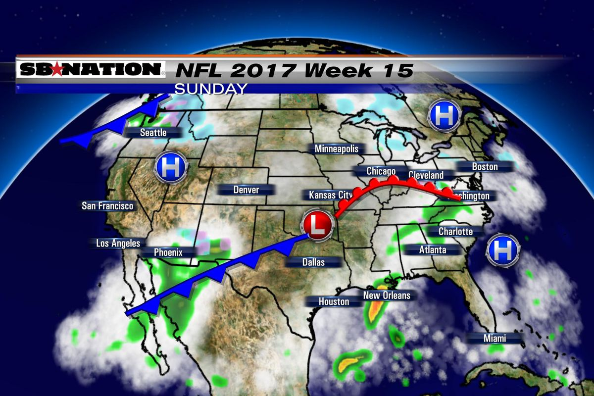 NFL weather forecast 2017, Week 15: No snow but a few games