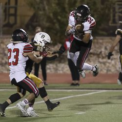 Weber and Davis compete in a high school football game at Davis High School in Kaysville on Friday, Oct. 2, 2020.