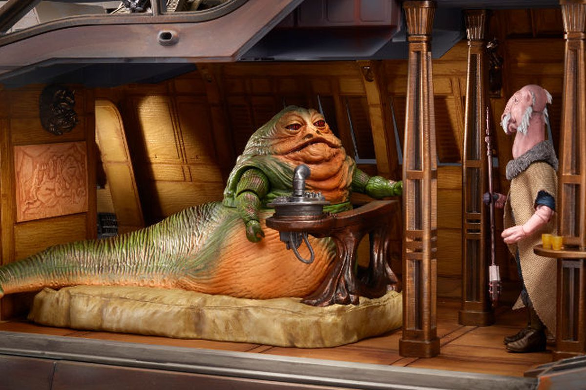 Interior shot showing Jabba's personal quarters.