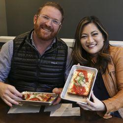 Ji Suk Yi with Andy Kalish, owner Longacre in Uptown. | Brian Rich/ Sun-Times