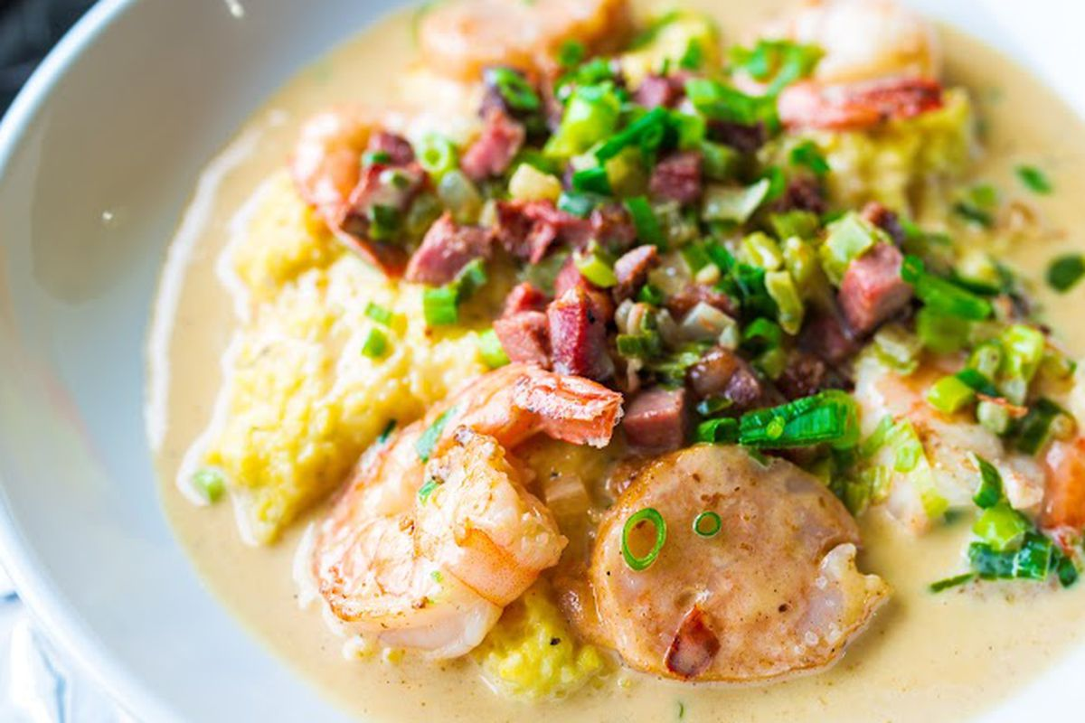 You'll have to wait a while for these killer shrimp & grits