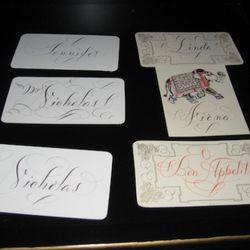 Bernard Maisner custom calligraphy, $10-$95
