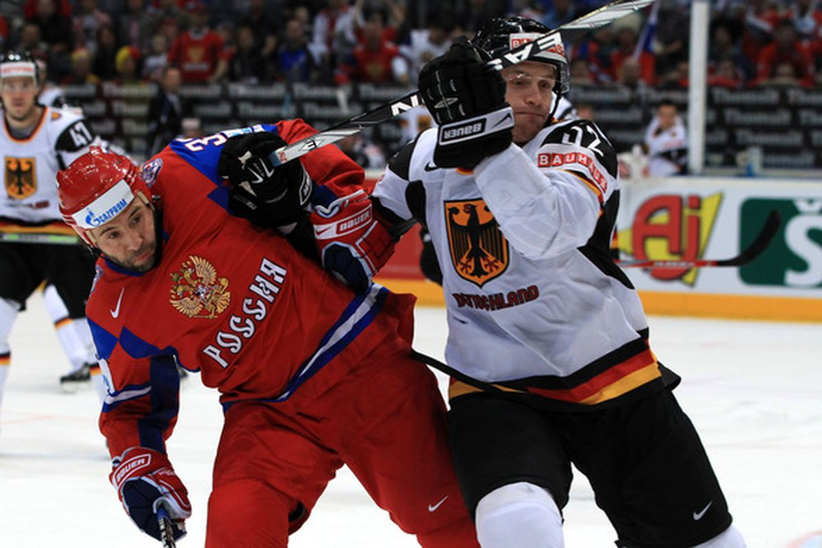 Alexander Sulzer (right) competed for Germany at the Winter Olympics and World Championships. But does he have a lock on a roster spot in Nashville this fall?