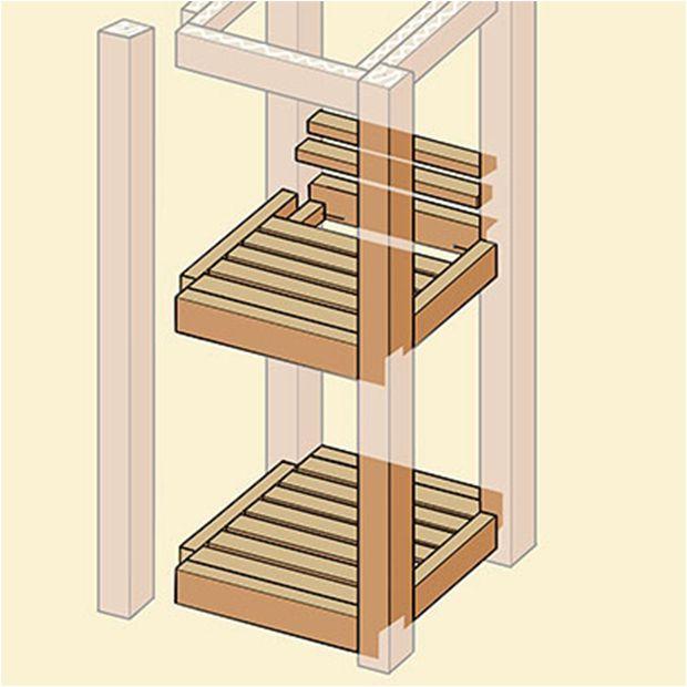 Build Three-Tiered bath Stand