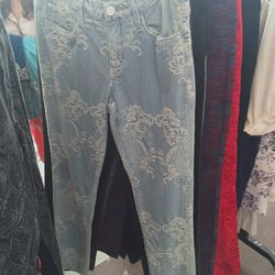 Voyage lace-embellished denim, $35