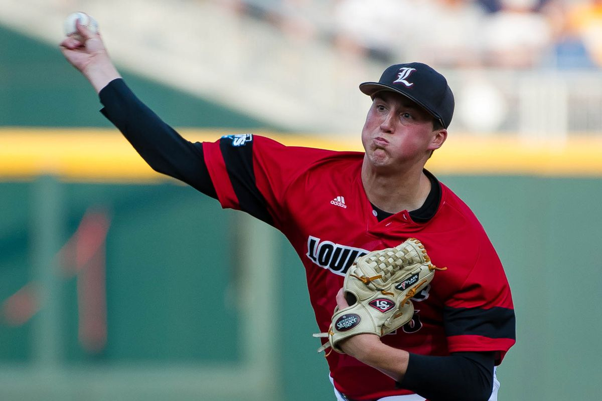 Kyle Funkhouser of Louisville. Could he be the Cubs' No. 1 pick this year?