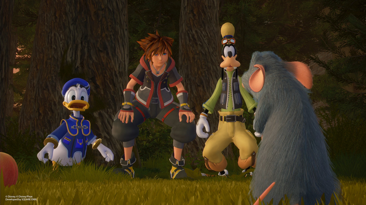 King Hearts 3 - Sora, Donald, Goofy and Remi