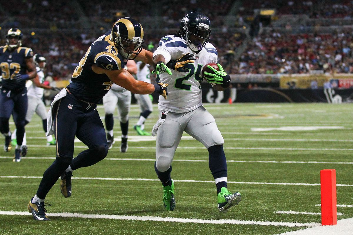 Marshawn Lynch and the Rams back on September 30.