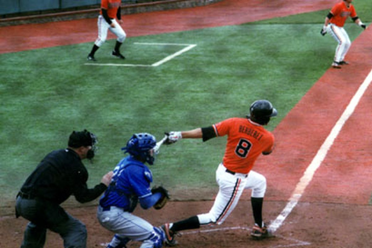 Parker Berberet drove in Oregon State's only run of the night in yesterday's 4-1 loss. (Photo by RVM)