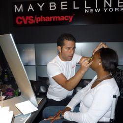 Makeup artist Gabriel Almodovar hard at work