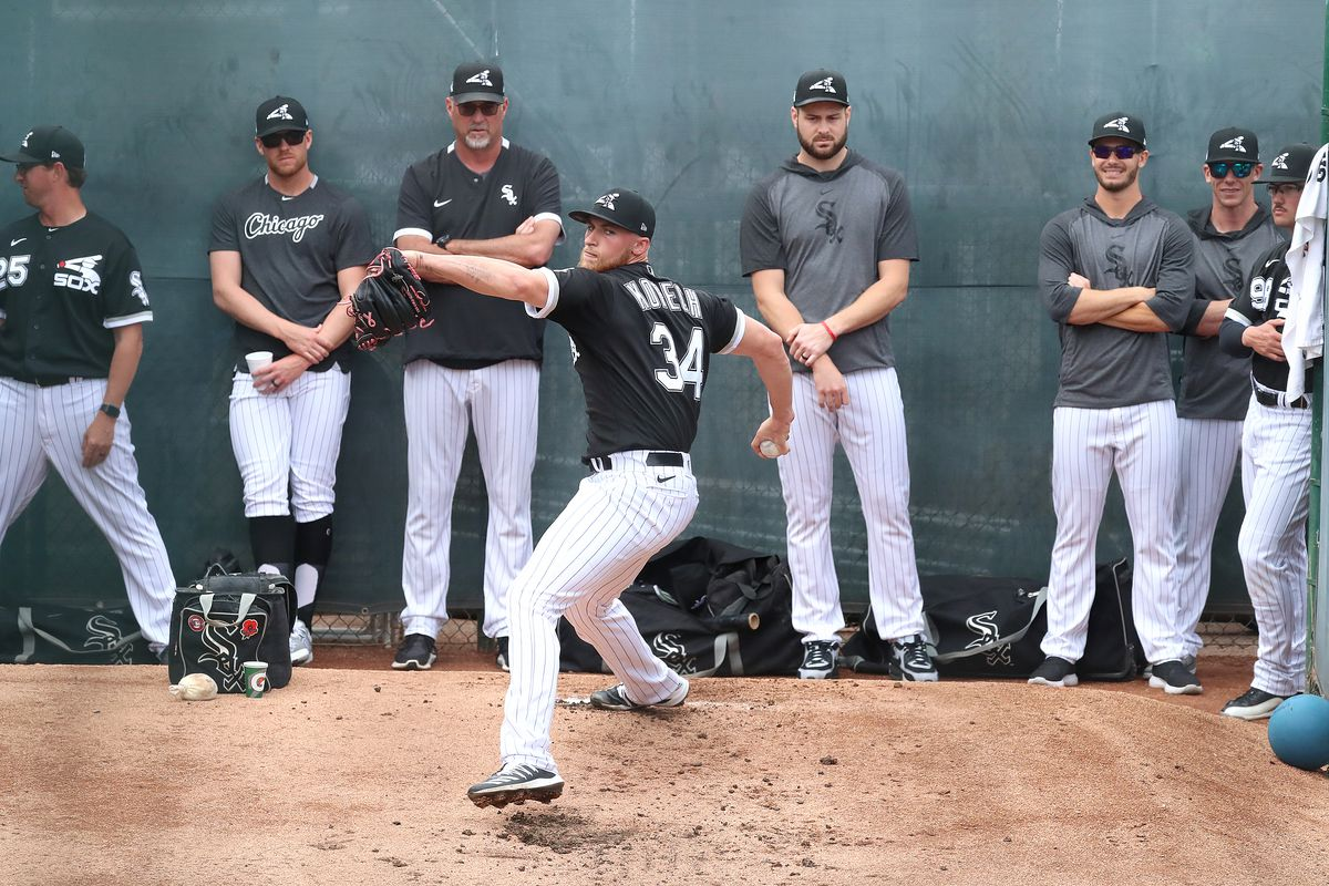 White Sox pitcher MIchael Kopech works out during spring training earlier this year in Glendale, Arizona.
