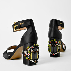 Marni silk jeweled heel sandals, $399 at Bird (was $890)