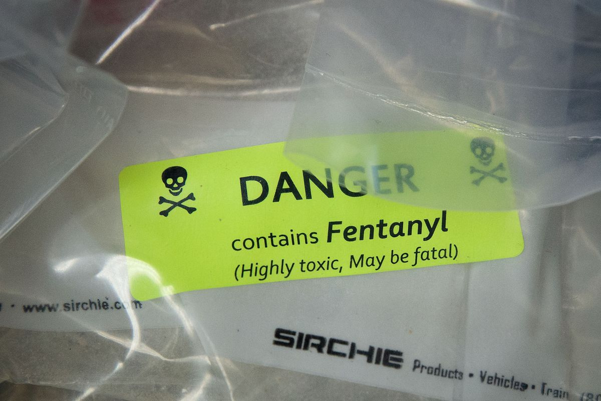 A seizure of fentanyl, a synthetic opioid that's been increasingly linked to drug overdose deaths in recent years.
