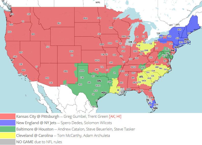 Week 16 TV Map