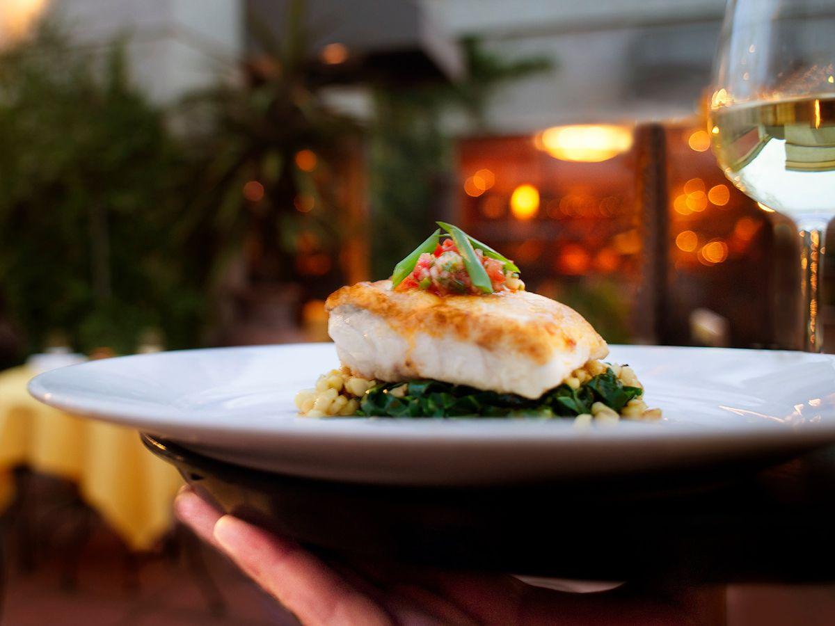 Roasted fish fillet at LaSalette