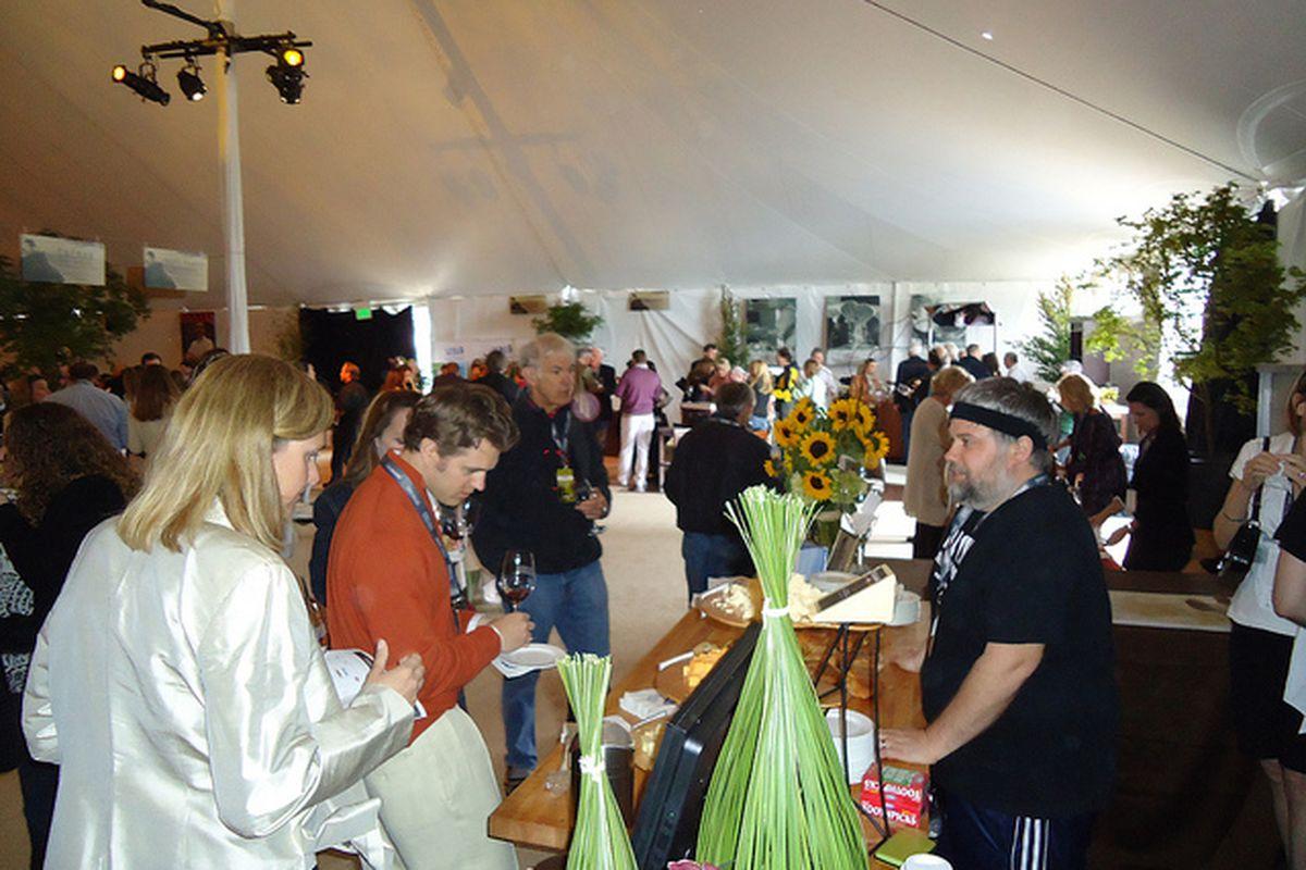 Crowds at PBFW's tasting tent.